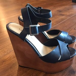 Chinese Laundry Navy Blue Wedges
